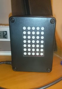 Arduino based scrolling message display