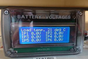 6 input Digital Voltmeter 0-50V range.