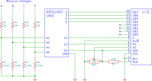 Example voltage divider circuit.