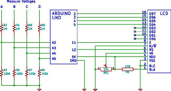 Arduino 6 input DVM 0 to +50V range – Adrian's electronics blog