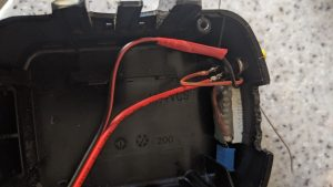 Battery voltage monitor fitted