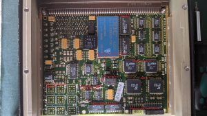 Interface board of the merlin helicopter CDU